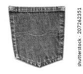 black jeans back pocket... | Shutterstock . vector #207262351