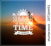 summer time vector typography... | Shutterstock .eps vector #207264451