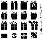 set silhouette black and white... | Shutterstock .eps vector #207265957