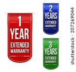 extended warranty banner design ... | Shutterstock .eps vector #207269044