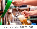close up of barman brewing a... | Shutterstock . vector #207281581
