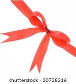 red ribbon on white | Shutterstock . vector #20728216
