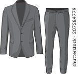 male clothing suit coat and... | Shutterstock .eps vector #207284779