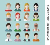 people userpics icons in flat... | Shutterstock .eps vector #207285241