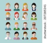 people userpics icons in flat... | Shutterstock .eps vector #207285241