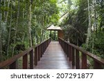 a wooden pathway at an eco... | Shutterstock . vector #207291877