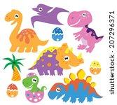 dinosaur vector illustration | Shutterstock .eps vector #207296371