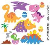 dinosaur vector illustration | Shutterstock .eps vector #207296404