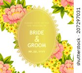 wedding invitation cards with... | Shutterstock .eps vector #207297031