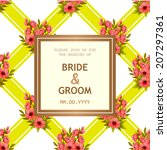 wedding invitation cards with... | Shutterstock .eps vector #207297361