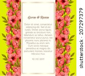 wedding invitation cards with...   Shutterstock .eps vector #207297379