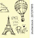 with  love from paris   | Shutterstock .eps vector #207297895