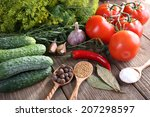 Fresh Vegetables With Herbs An...