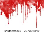 red ink droped on white... | Shutterstock . vector #207307849