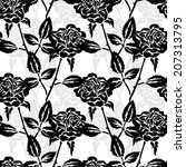 elegant seamless pattern with... | Shutterstock .eps vector #207313795