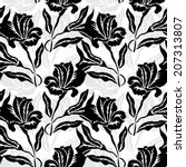 elegant seamless pattern with... | Shutterstock .eps vector #207313807