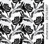 elegant seamless pattern with... | Shutterstock .eps vector #207313807