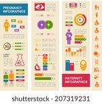 maternity infographic template. | Shutterstock .eps vector #207319231