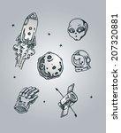 space elements 1 | Shutterstock .eps vector #207320881
