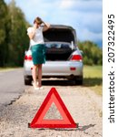 close up on triangle warning... | Shutterstock . vector #207322495