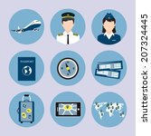 airlines travel concept icons... | Shutterstock .eps vector #207324445