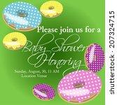baby shower invitation template ...   Shutterstock .eps vector #207324715