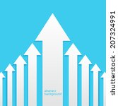 growth  business concept... | Shutterstock .eps vector #207324991