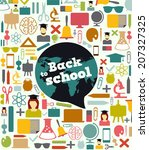 back to school   background... | Shutterstock .eps vector #207327325