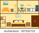 home interior design | Shutterstock . vector #207332725