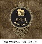 design beer labels on the... | Shutterstock .eps vector #207335071