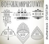 collection of tribal design... | Shutterstock .eps vector #207337369