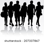 people silhouettes | Shutterstock .eps vector #207337867