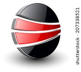 abstract symbol black and red...   Shutterstock .eps vector #207338521