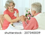 happy elderly couple together... | Shutterstock . vector #207340039