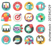 marketing icons | Shutterstock .eps vector #207341929