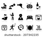 hotel service icons set | Shutterstock .eps vector #207342235