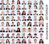 collage of diverse multiethnic... | Shutterstock . vector #207349639