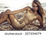 fashion photo of sexy girl with ... | Shutterstock . vector #207354079
