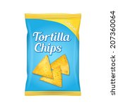 tortilla corn chips packet bag  ... | Shutterstock . vector #207360064