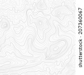 light topographic topo contour... | Shutterstock . vector #207360067