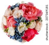 wedding bouquet with roses and... | Shutterstock . vector #207369181