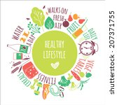 healthy lifestyle background  | Shutterstock .eps vector #207371755