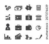 money  finance  banking icons | Shutterstock .eps vector #207376639