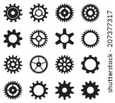 cogwheel icon set. vector... | Shutterstock .eps vector #207377317