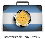 argentina travel luggage with... | Shutterstock . vector #207379489