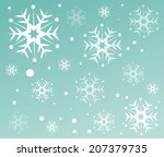 snow vector pattern  | Shutterstock .eps vector #207379735