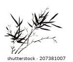 chinese element  bamboo | Shutterstock . vector #207381007