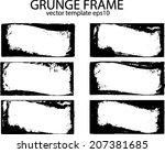 grunge frame set. vector... | Shutterstock .eps vector #207381685