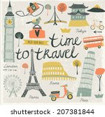 time to travel | Shutterstock .eps vector #207381844