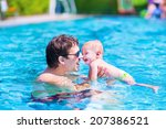 young active father playing... | Shutterstock . vector #207386521